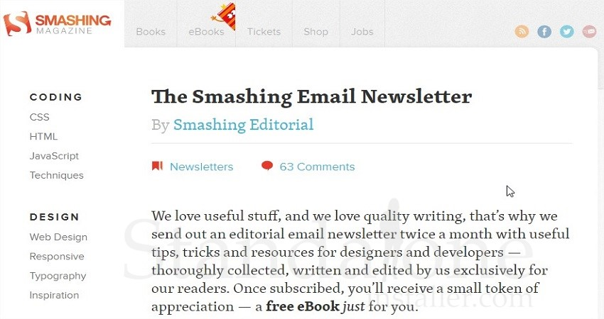 The Smashing Newsletter