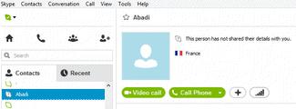 Block on Skype