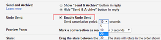 Undo send emails in gmail