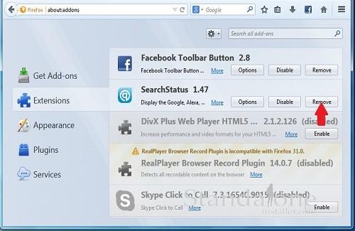 Remove Getform Firefox
