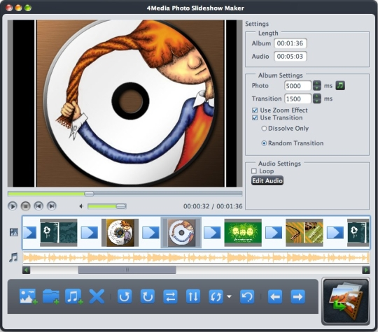how to make a slideshow on mac photo