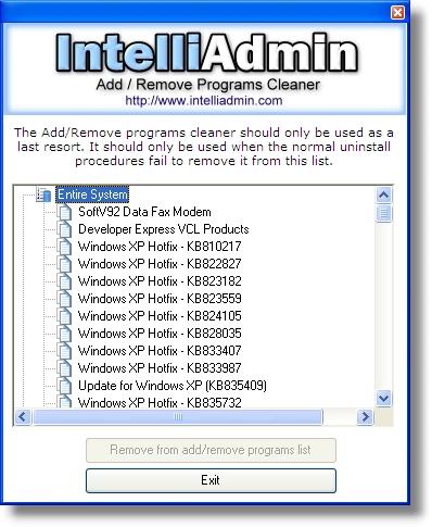 Add Remove Program Cleaner