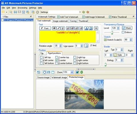 Download AiS Watermark Pictures Protector