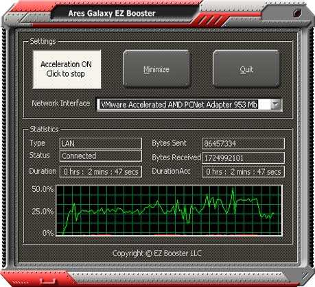 Download Ares Galaxy EZ Booster