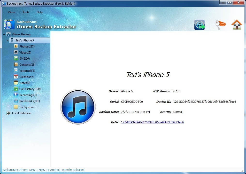 jihosoft itunes backup extractor registration key