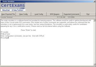 Download CertExams.com CCNA Network Simulator.