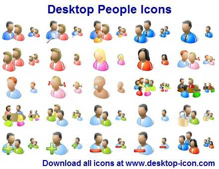 Desktop People Icons