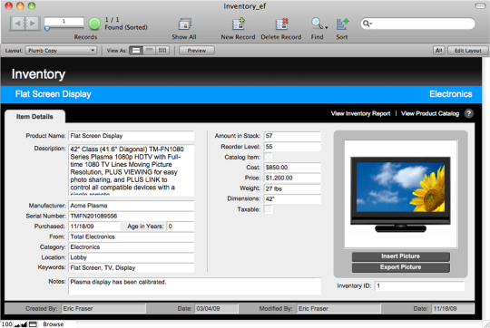 Filemaker pro for Filemaker pro 12 templates