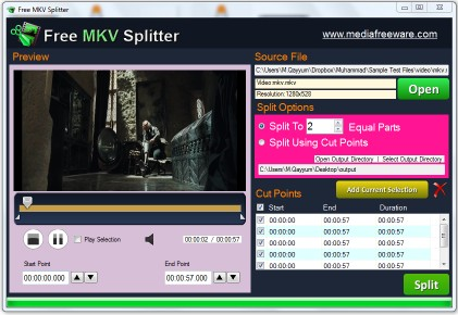 Download Free MKV Splitter
