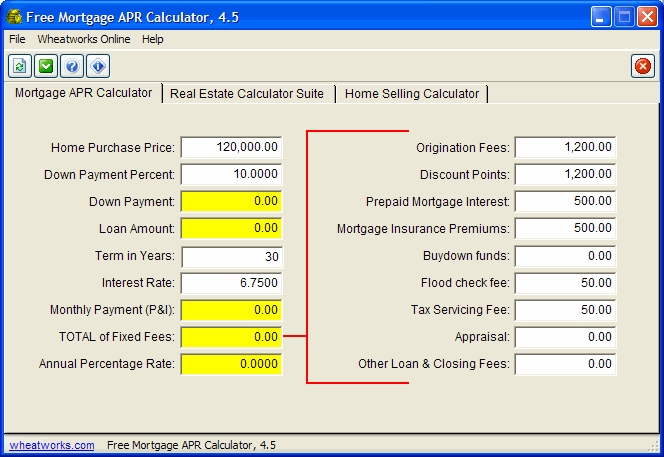 Free Mortgage APR Calculator - standaloneinstaller.com
