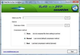 Download Free RAR to ZIP Converter