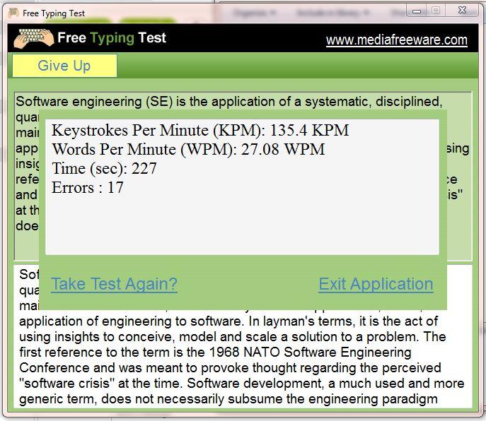 Free Typing Test - standaloneinstaller.com