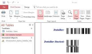 GS1 DataBar Microsoft Access Generator