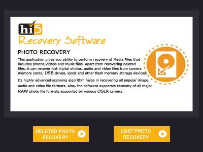 Hi5 Software Photo Recovery
