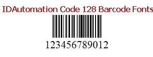 Download IDAutomation Code 128 Barcode Fonts