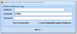 Import Multiple Firebird Interbase Tables Into Excel Software