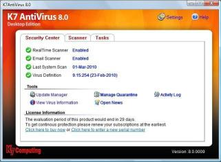 Download K7 Antivir	us