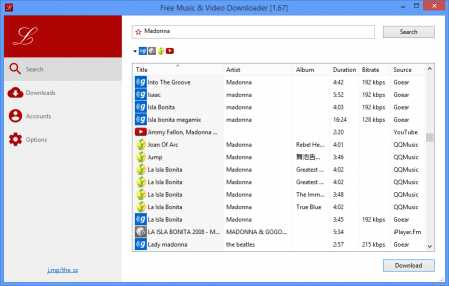 Lacey::Free Music & Video Downloader