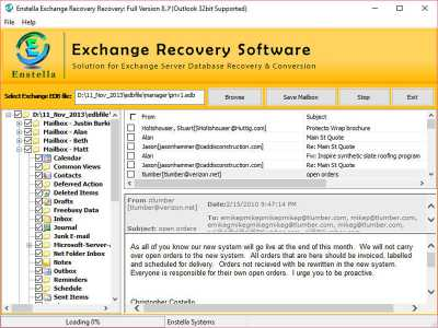 MS Exchange Email Recovery