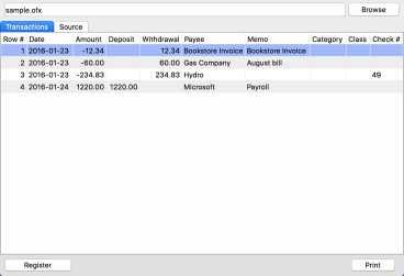 OFX2PDF for Mac