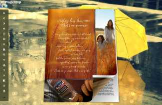 Raining Style Theme for 3D Book