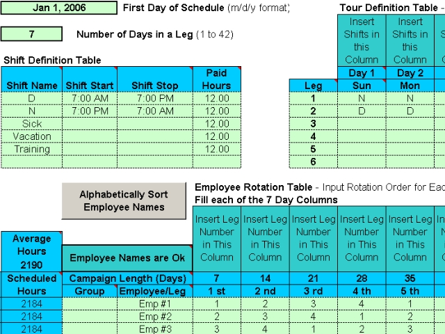 rotating shift schedules