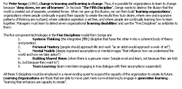 evaluate the importance of organizational learning provide examples of how learning and change can i Evaluation of these programs is particularly challenging because they address a wide diversity of problems and possible solutions, often include multiple agencies and clients, and change over time to meet shifting service needs.