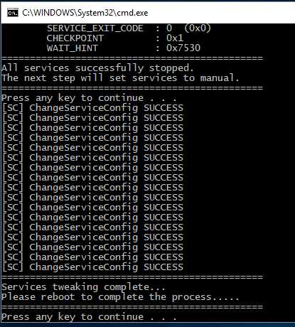 Service Tweaker for Windows