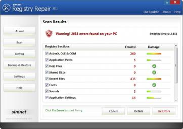 Download Simnet Registry Repair 2011