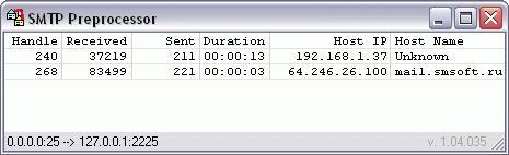 Download SMTP Preprocessor