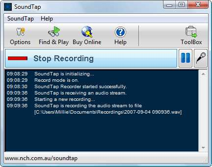 soundtap streaming audio recorder free