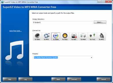 SuperEZ Video to MP3 WMA Converter Free
