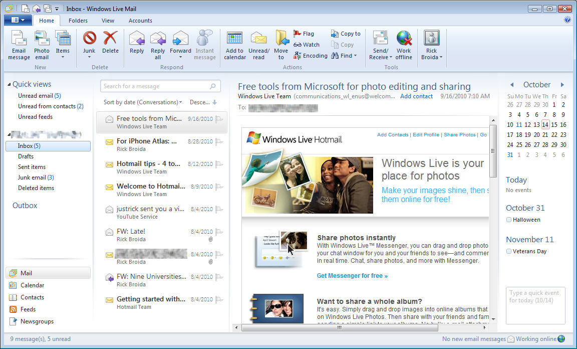 Windows live mail import windows 7 and vista contacts windows.