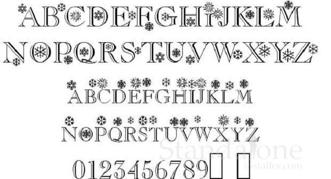 Christmas/Flakes Font