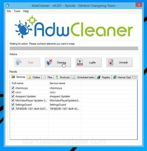 Adware Cleaning