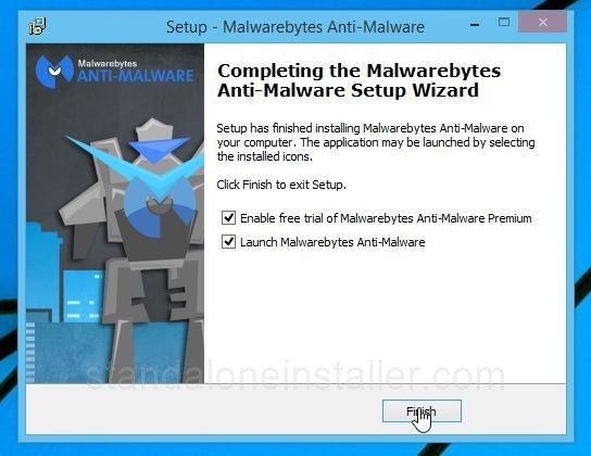 Malwarebytes Anti-Malware Setup Finish