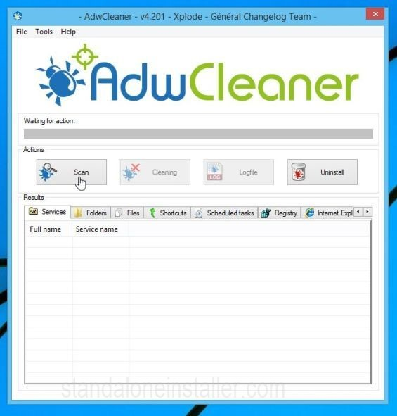 AdwCleaner Scan