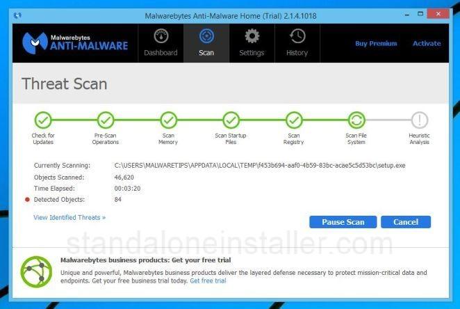 scanning malware