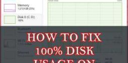 How to Fix High or 100% Disk Usage in Task Manager for Window 10, 8, 8.1 & 7?