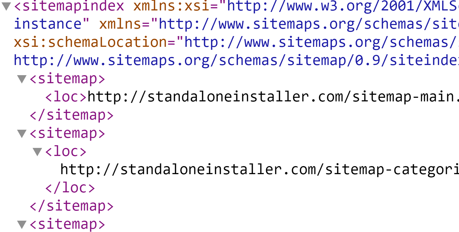 how to create sitemapindex sitemap from database
