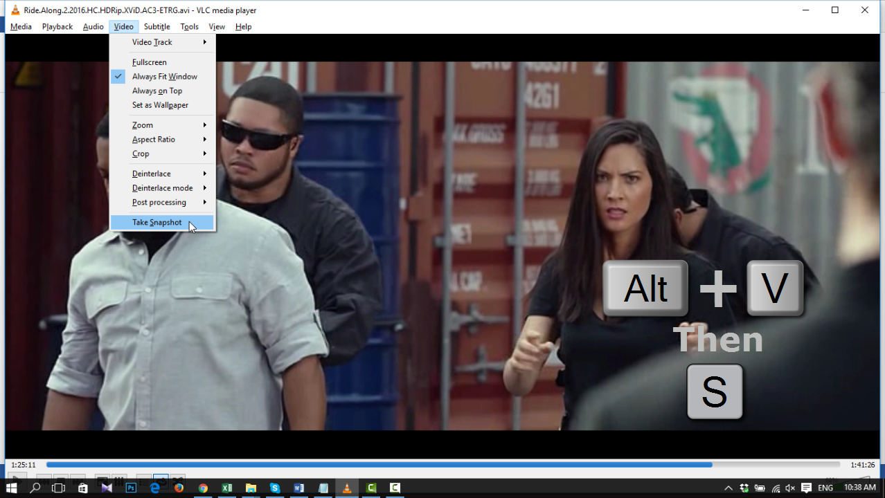 Take Snapshot in VLC Media Player