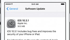 Apple iOS 10.3.1 is Now Available