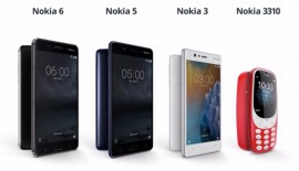 Nokia announces 3 Android phones and New 3310