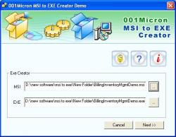 Download 001Micron MSI to EXE Converter