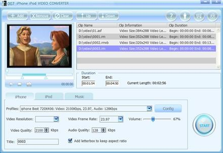 Download 007 iPhone iPod Video Converter