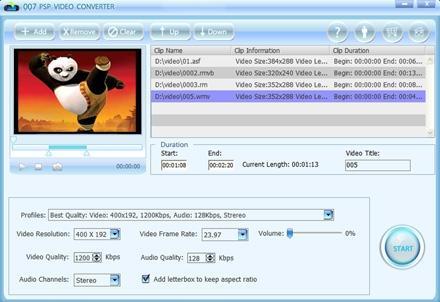 Download 007 PSP Video Converter