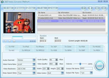 Download 007 Video Converter Platinum