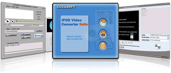 1st cucusoft ipod video converter + dvd