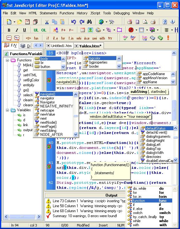 1st javascript editor pro 2.0