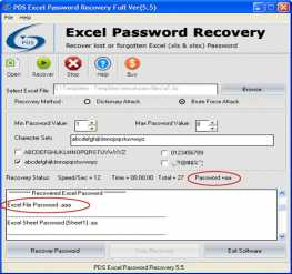 Download 2010 MS Excel Password Recovery